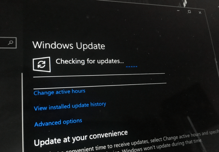 微软培训智能模型:用户工作/短时离开时间段不升级Windows