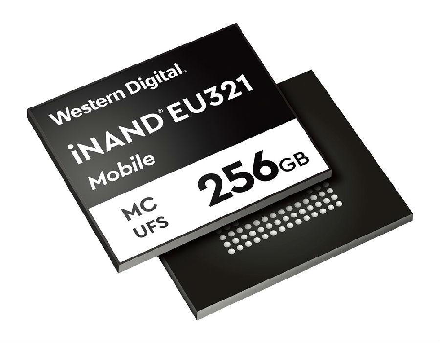 西部数据公司发布面向高端智能手机的 96层3D NAND UFS 2.1嵌入式闪存盘