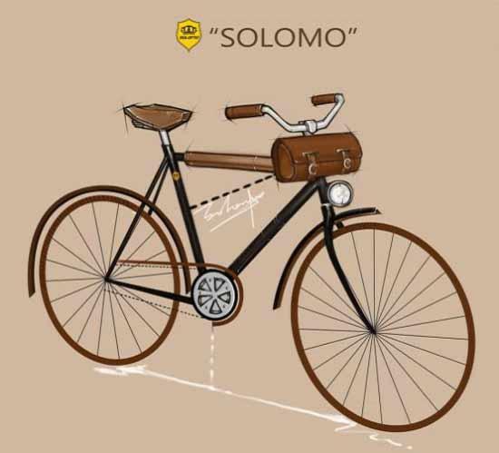 手绘智能自行车图