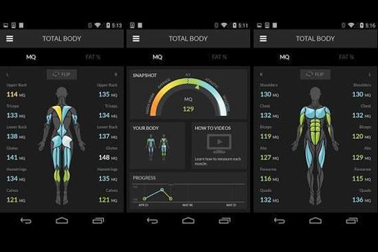 健身肌肉数据追踪器 实施测量身体健康状况图片