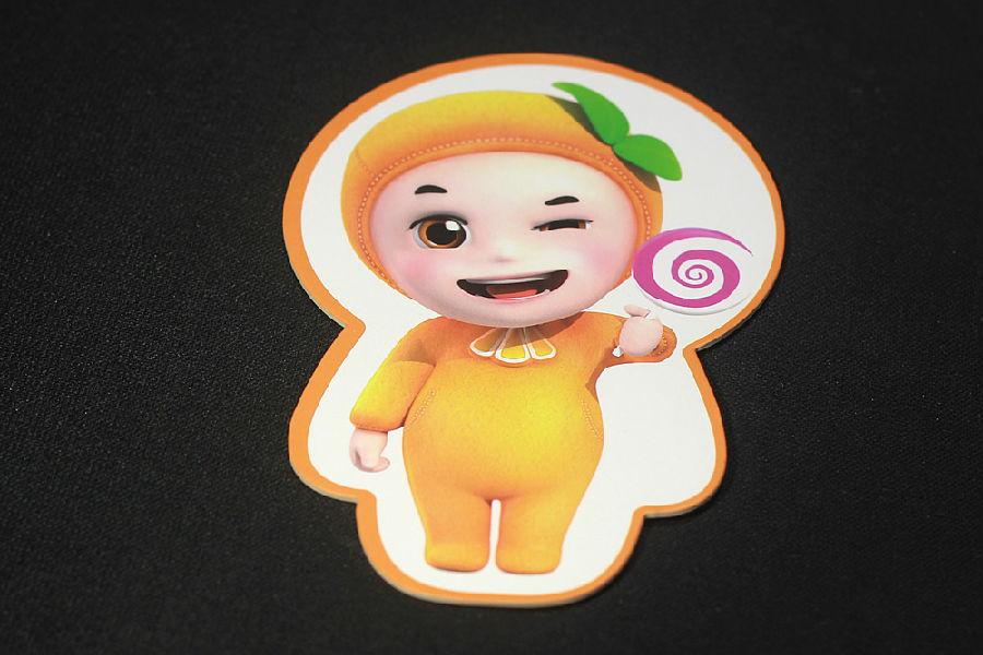 萌橙的卡通形象很可爱
