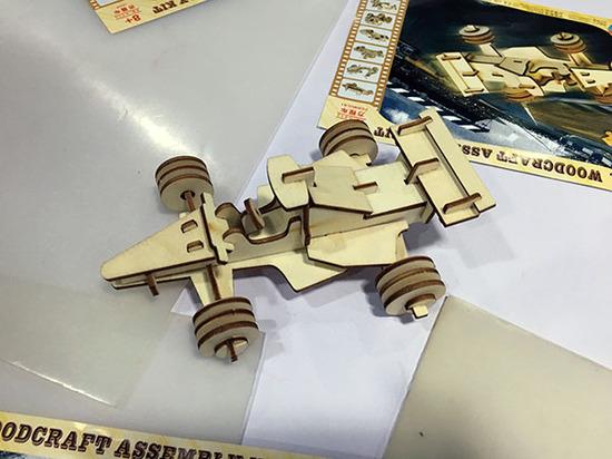 激光切割木板立体拼图diy工作坊剪影