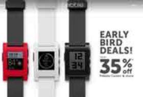 Pebble智能手表加入 黑五 促销大军-硬蛋网