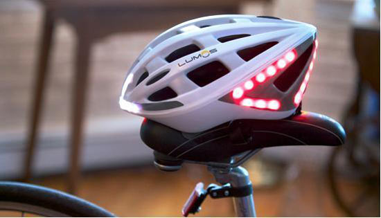 lumos智能自行车头盔:一刹车就亮灯