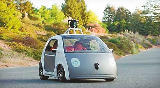 无人驾驶汽车行业 谷歌处于绝对的主导地位高清图片