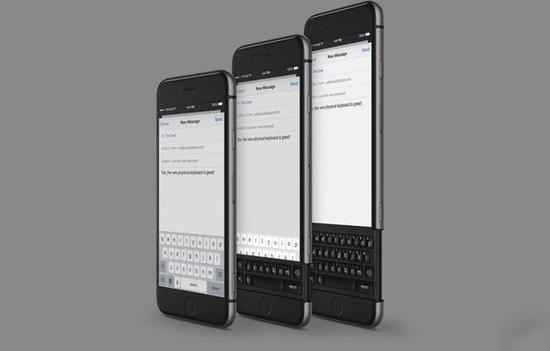 脑洞大开的全键盘iphone设计